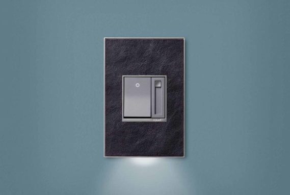 The Accent with built-in light on a wall